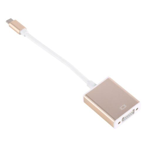 USB 3.1 Type C USB-C to VGA Converter Adapter Reversible for 12inch Laptop Cable
