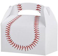 12 BASEBALL  PARTY TREAT BOXES FAVORS GOODY BAG  PRIZE GIFT BASKET CARNIVAL