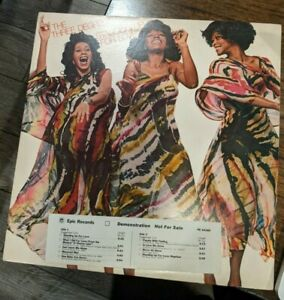 THE THREE DEGREES Standing Up For Love Promo LP NEAR MINT