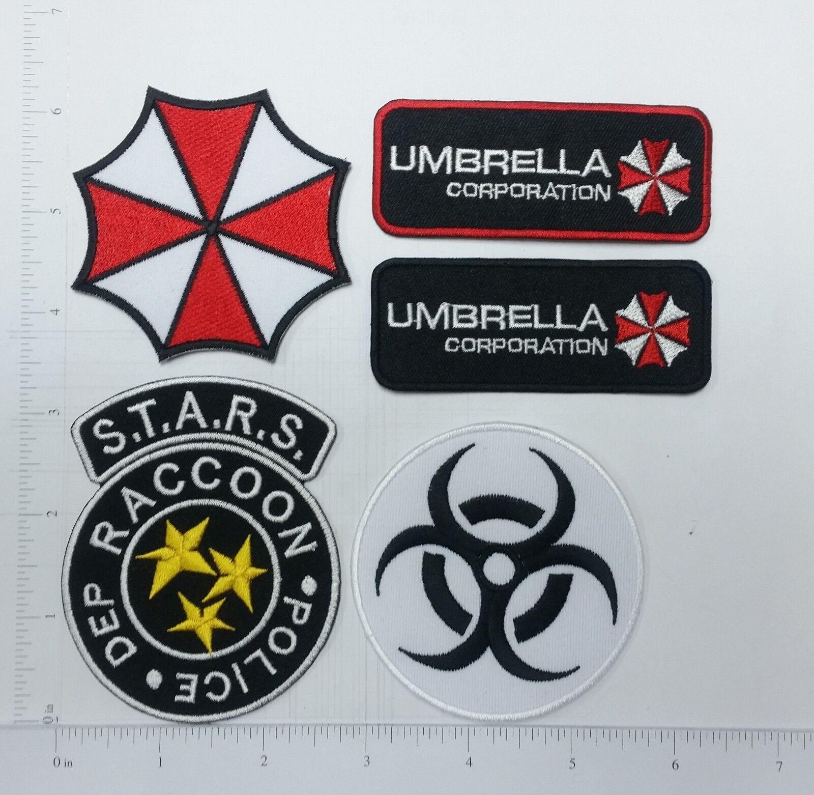 Resident Evil Umbrella Corporation Patch {PVC Rubber-2PC Bundle