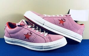 7a25be7a39c Hello Kitty x Converse One Star Low OX Pink Suede Red Women s Size ...