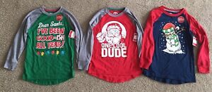 Three Boys Long Sleeved Santa Snowman Glow In The Dark Shirts Sized 8 Clothing, Shoes & Accessories