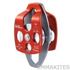 GM Climbing Rescue Double Sheave Pulley for Hauling Rigging System 32kn 7 000lb
