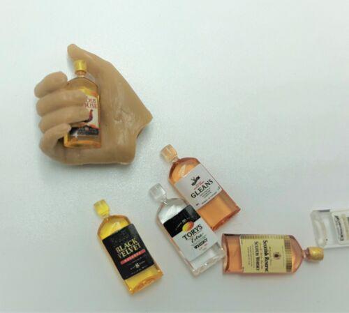 1//12 whiskey alcohol 6 x wine hot toy Kumik Phicen Barbies tage property ❶USA❶