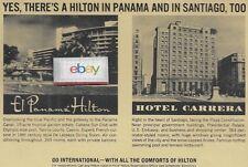 HILTON HOTELS INTERNATIONAL EL PANAMA HILTON & HOTEL CARRERA SANTIAGO AD