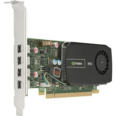 4K nVidia Quadro NVS510 PCIe 2.0 x16 2GB mDP Graphics Card HP 721795-001 C2J98AA