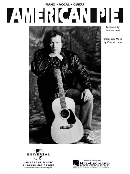 American Pie Song by Don McLean Piano Sheet Music Guitar Chords ...