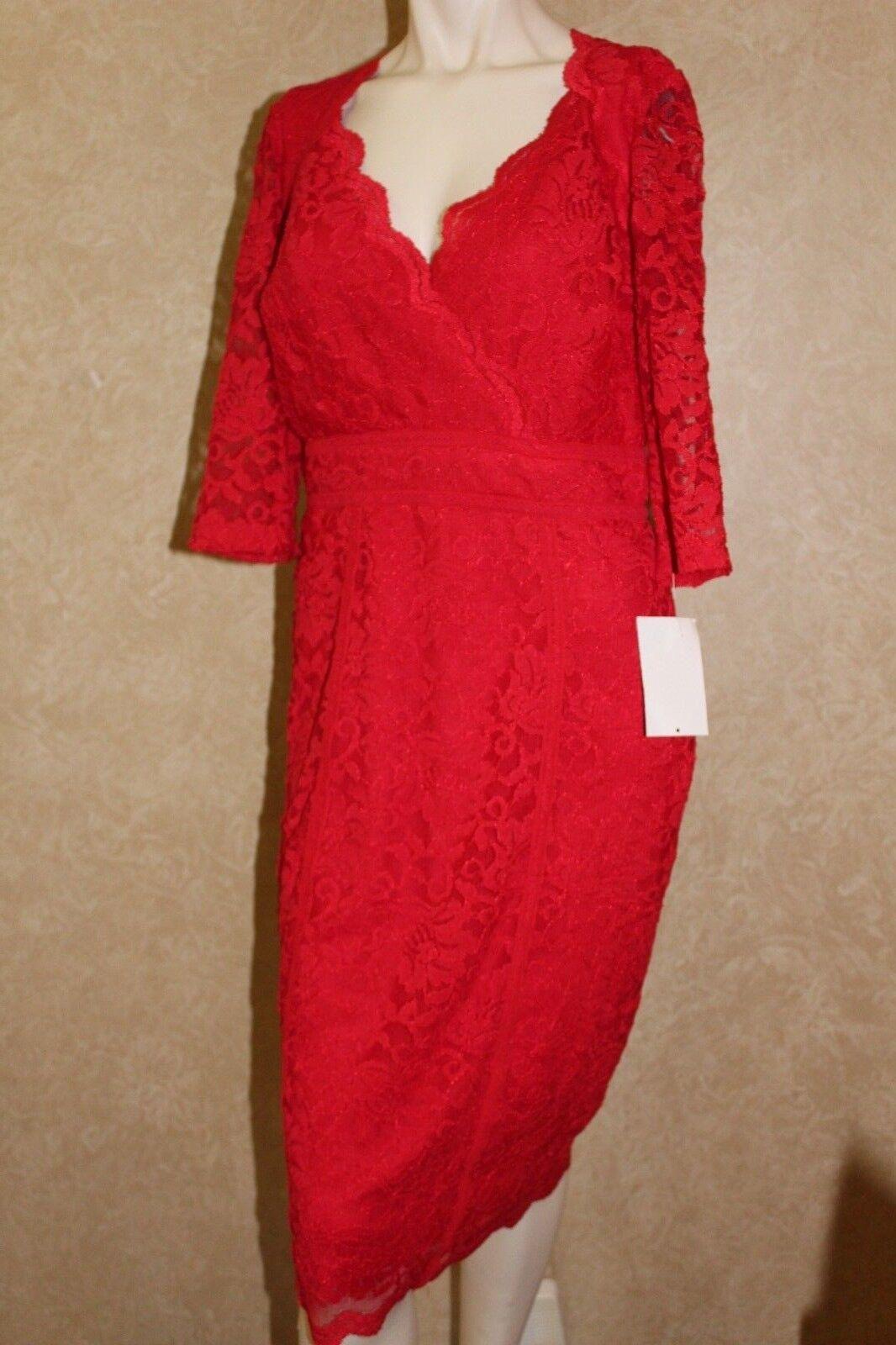Thalia Sodi  Red Lace Dress Floral  S  ________________________ R21-1