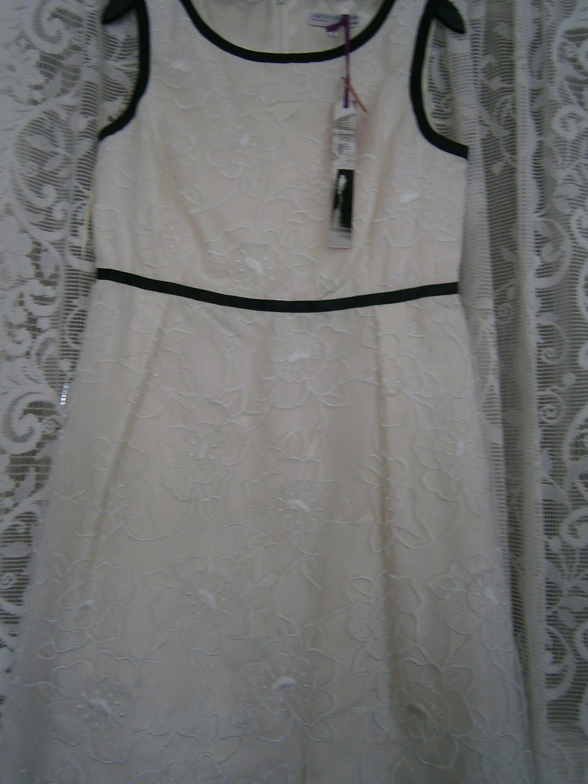 M&S DRESS LTD COLLECTION EXCLUSIVE, OCCASION, CREAM LACE, SIZE 12, BNWT
