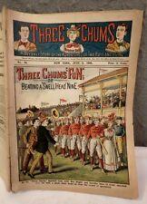 RARE JUNE 8 1900 THREE CHUMS BASEBALL CLUB BEATING A SWELL HEAD NINE MAGAZINE