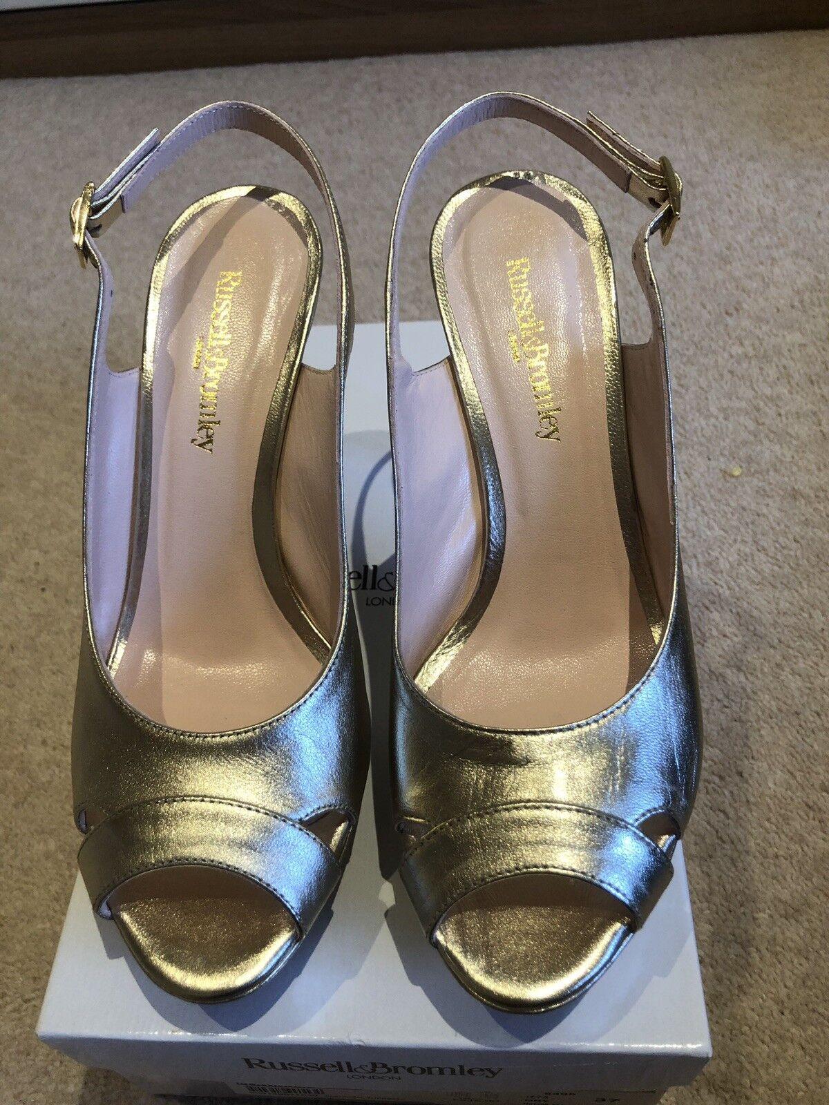 Russell Bromley sling back Chaussures Sandales Taille 37 Élégant Nouveau