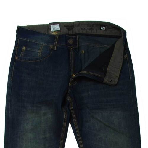 Denim Senza Stretch JEANS per recinti Madison DARK VINTAGE BLUE STONE USED Auth