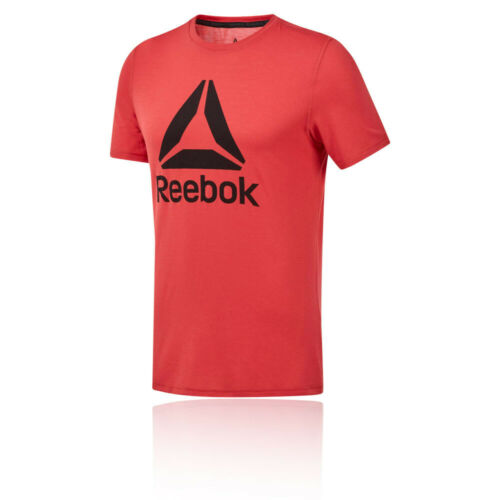 Reebok Mens Graphic SS T Shirt Tee Top Red Sports Gym Short Sleeve Crew Neck