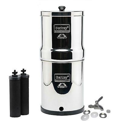 Big Berkey Water Filter, Stainless Steel Spigot, Black BB9 Berkey Filters