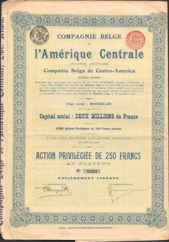 BELGIQUE J L/'AMERIQUE CENTRALE