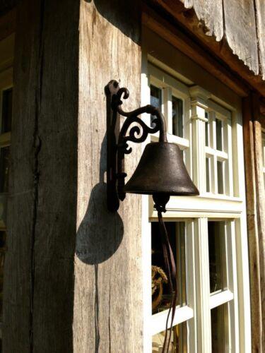 Schöne Glocke Vintage Gartenglocke aus Gusseisen antik und mit tollem Klang