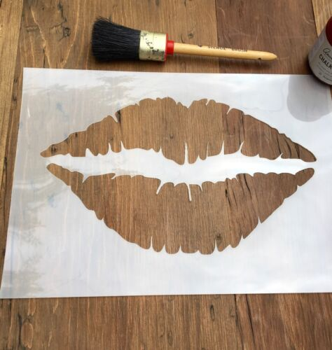 Lips Stencil Mouth Stencil Kiss Stencil Lipstick Stencil Love Wall Art