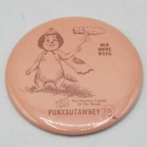 Punxsutawney Pennsylvania Old Home Week Vintage Pin Pinback Button Badge