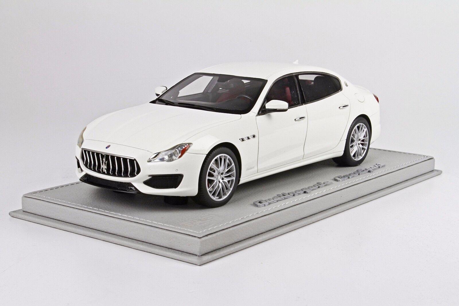 Marserati Quattroporte MY17 Gran Sport White, Ltd 50 pcs w  Case BBR 1 18