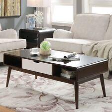 Modern Coffee Table Wood Chrome Mid Century S Storage Walnut - Mid century modern coffee table with storage