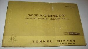 Vintage-1967-MANUAL-ONLY-for-HEATHKIT-Tunnel-Dpper-Model-HM-10A