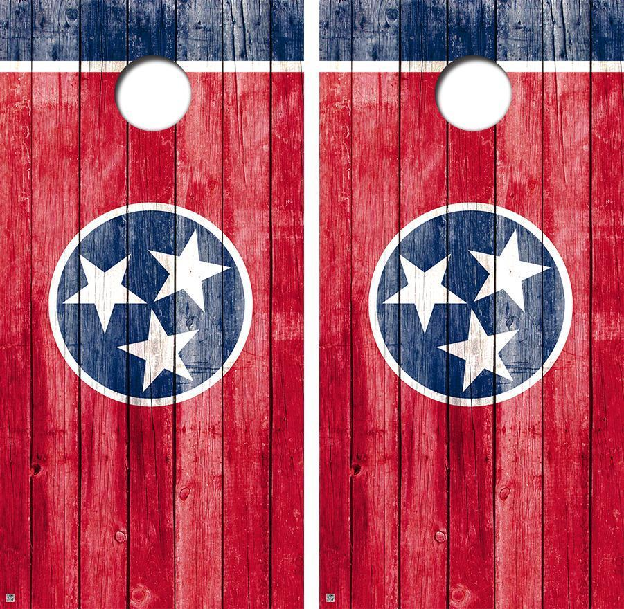 Tennessee Distressed State Flag Cornhole Board Skin Wrap  FREE SQUEEGEE  for sale online