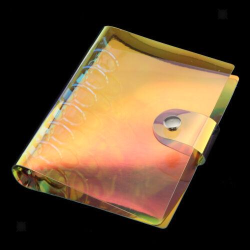 A7  6 PVC Loose-leaf Cover Laser Multi-color Notebook Sheet Binder