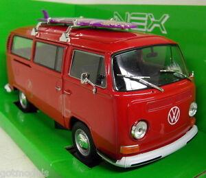 Nex-models-1-24-Scale-22522W-Volkswagen-T2-Bay-window-1972-Surf-Board-Diecast