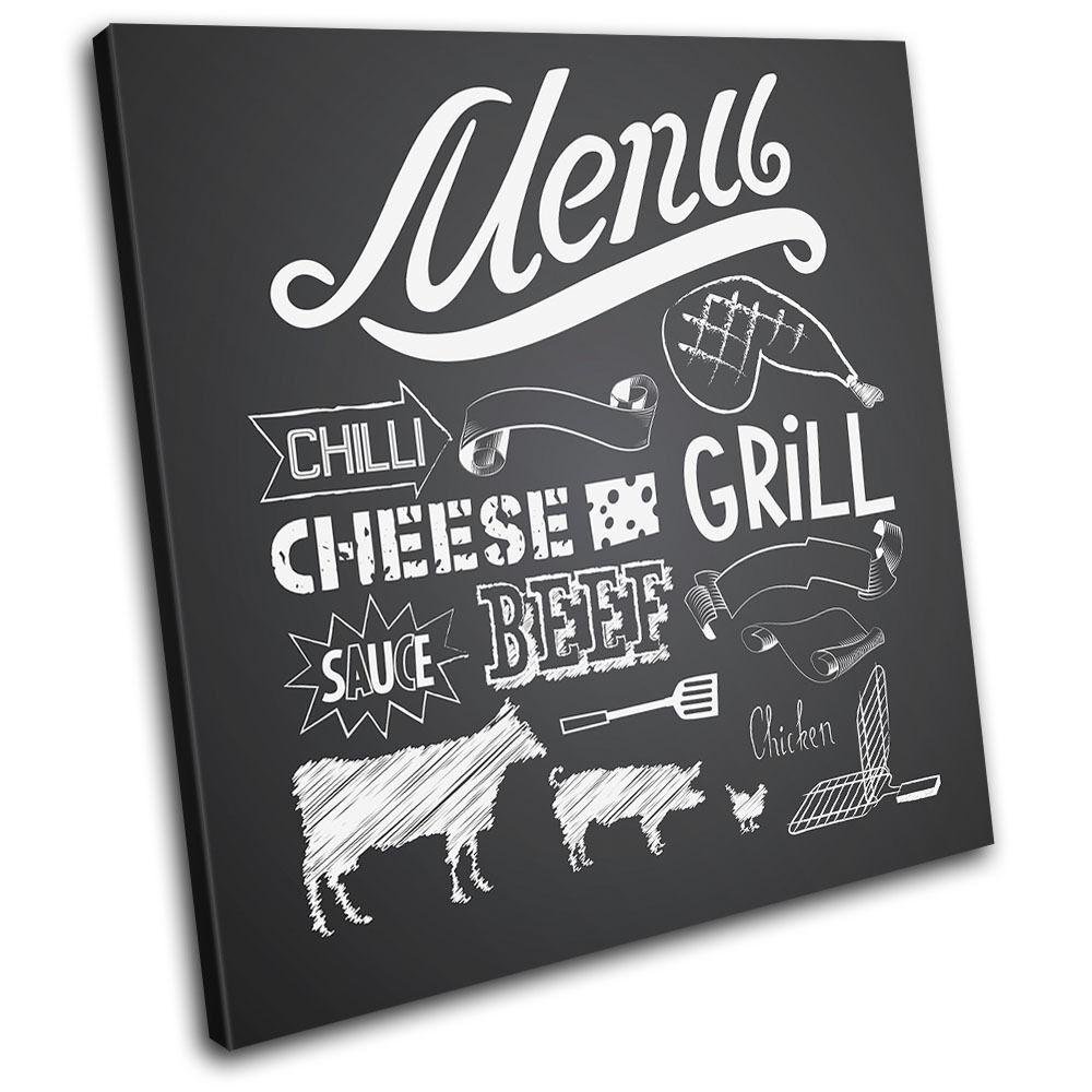 Dinning Menu  Typography SINGLE TELA parete arte foto stampa