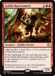 4x Goblin Razerunners NM Duel Decks Merfolk Vs Goblins Rare Red