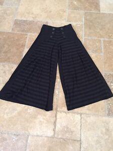 06c13af45dbc Anthropologie Black Gray Striped High Nautical Viscose Wool Knit ...