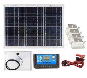 Alerte Poly 30w Panneau Solaire Batterie Chargeur Kit, Contrôleur & Support De Montage Set K2-afficher Le Titre D'origine