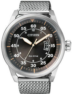 Citizen Eco-Drive AW1360-55F. Stainless Steel Mens Sports Watch ... 1cdb03eacd9