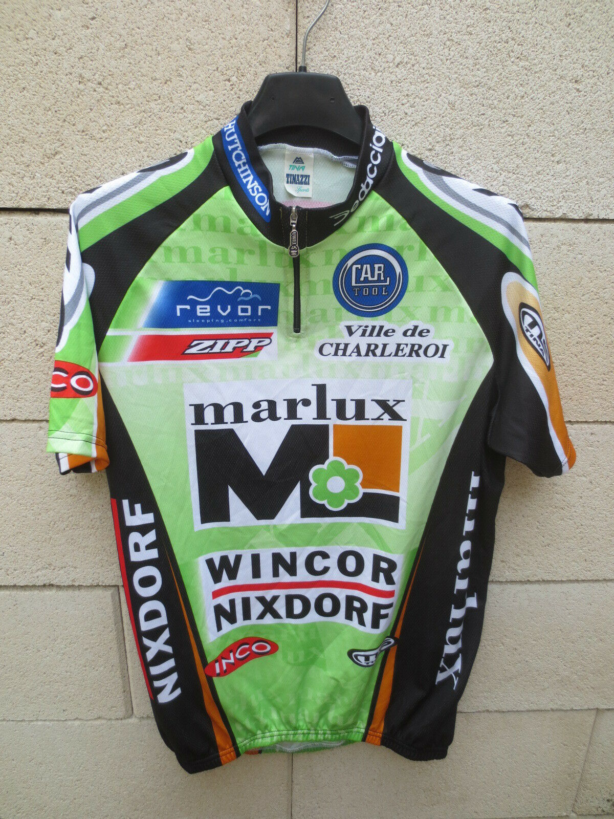 Maillot cycliste MARLUX WINCOR  NIXDORF CHARLEROI jersey shirt trikot 2003 5 L  first-class quality