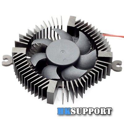 1W 3W 5W LED Aluminium Heatsink with 12V Cooling Fan (Heat sinks In Black)