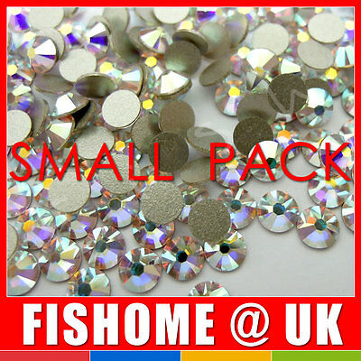 SWAROVSKI Flatback 2058 Crystal 001AB Foiled Glue Fix * All Sizes * Rhinestones