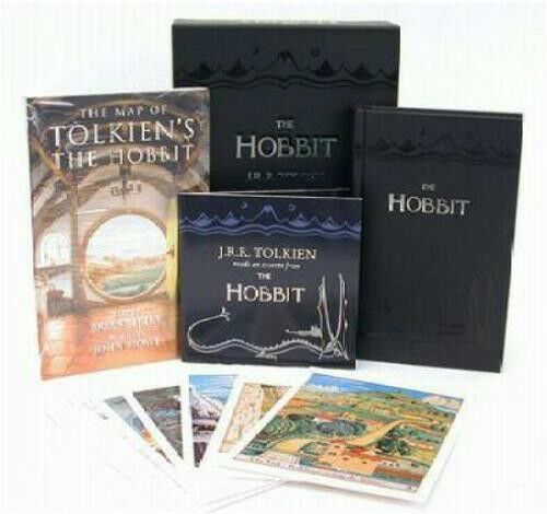 HOBBIT COLLECTOR'S BOX ~ Tolkien- Book-CD-Pix-Map ~ BRAND NEW ~ GORGEOUS SET