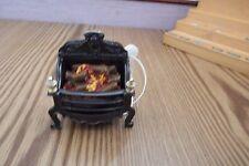 Muñeca casa muebles Victoriano De Trabajo De Metal Negro 12v fuego 1.12th escala un