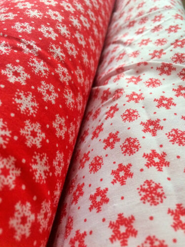 """poly cotton fabric for sewing /& craft~ 44/"""" wide~ per half metre ~ CHRISTMAS"""