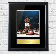 Muhammad Ali Signed Mounted Artistic Photo Display The Greatest FRAME