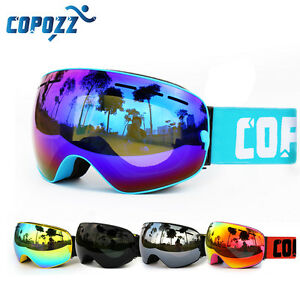 ski snowboard goggles  COPOZZ Brand Pro Skiing Snowboarding Goggles Double Lens UV Anti ...