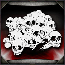 Skull Background 16 -  Airbrush Stencil Template Airsick