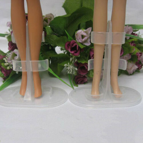10pcs//lot Transparent Doll Stand Display Leg Holder Accessories For 30cm Dolls