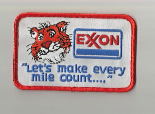 Exxon Lets Make Every Mile Count advertising patch 2-1//2 X 3-7//8 #2124