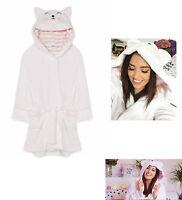 Primark Gabriella Cat Ladies Dressing Gown Hooded Bath Robe 14 16 Eur 42 - 44
