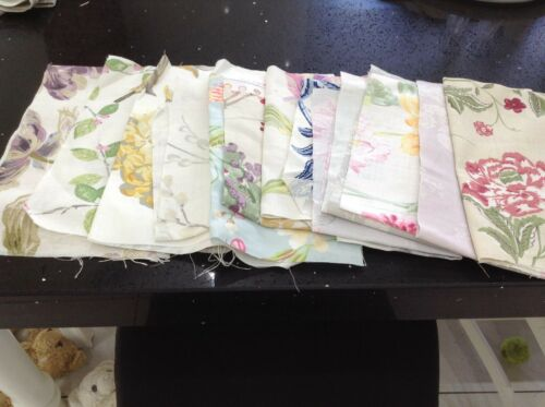 Laura Ashley Fabric Remnants Various Patterns Unused