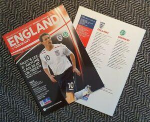 England-v-Germany-Wembley-Programme-2007-FREE-POSTAGE-WITHIN-UK-LAST-ONE