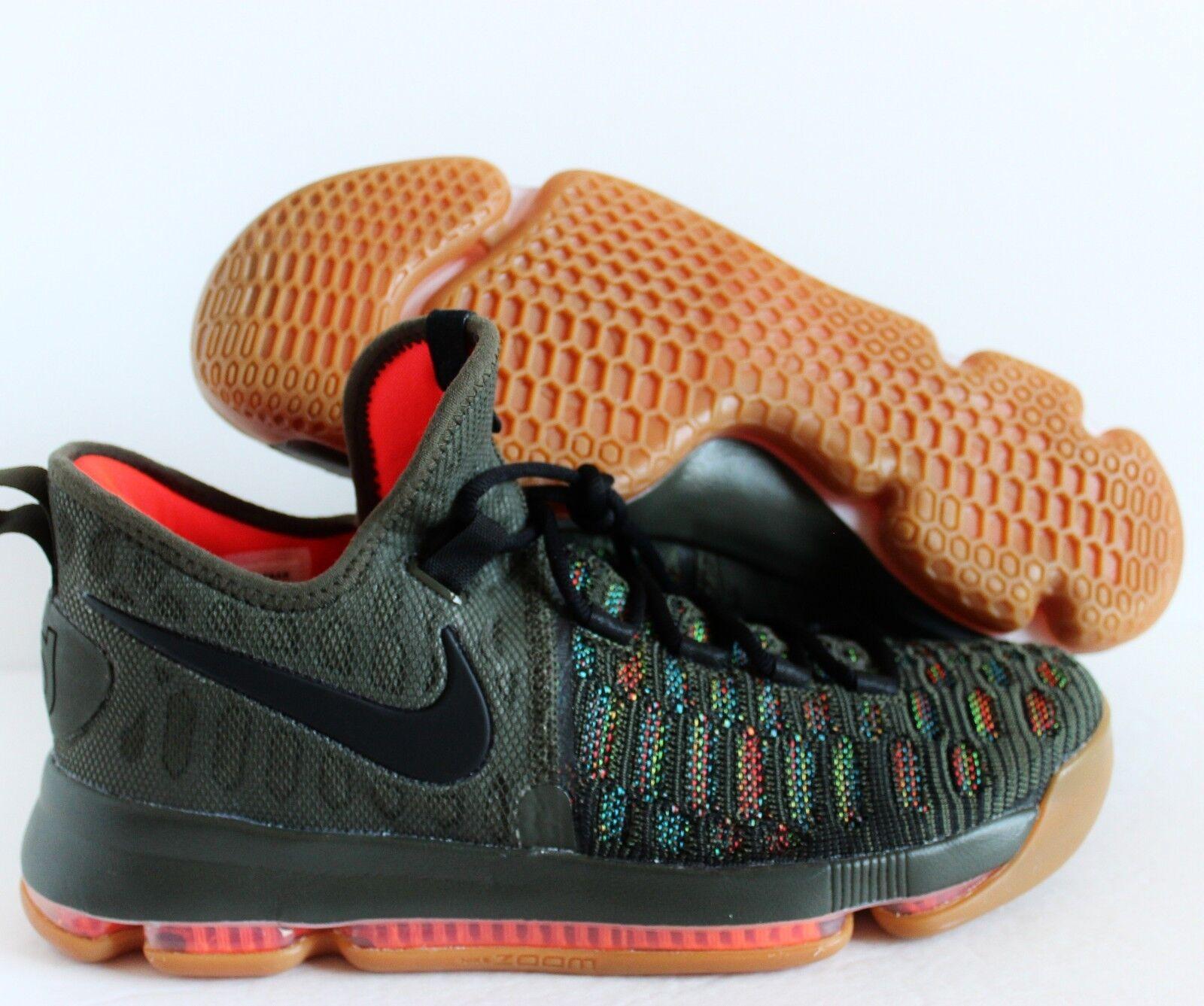 Nike KD 9 IX iD Multi-color Black-Green Kevin Durant SZ 10 [863695-985]