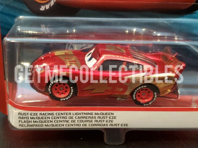 Disney Cars 3 Diecast Rust Eze Racing Center Lightning Mcqueen For