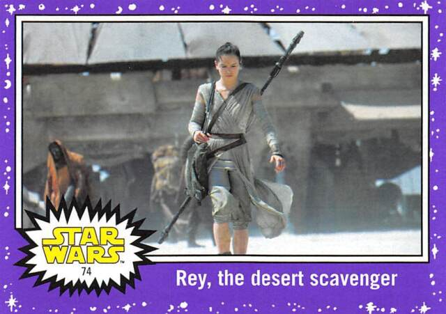 2017 Topps Star Wars Journey To The Last Jedi Purple #74 Rey